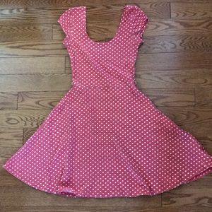 Red/White Polka Dot Skater Dress